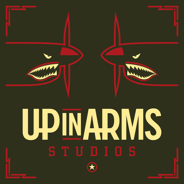 Up in Arms Studios Logo Design