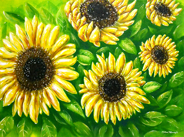 'Sunflowers' Acrylic Painting