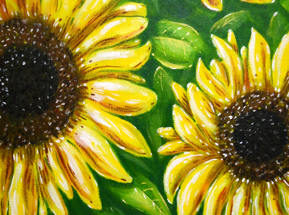 Richard Patmore Sunflowers Art 02 intwinedesign RichardPatmore Sunflowers Acrylic Painting