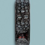 'The Watcher' Hand Painted Skateboard